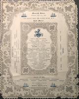 Mansion House: Monday, May 21st, 1849 Menu.