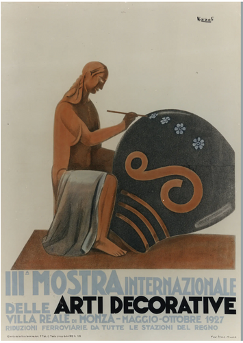Poster from III Biennale of Decorative Arts