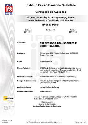 Expresso BR - Certificado 08874-2021 - S