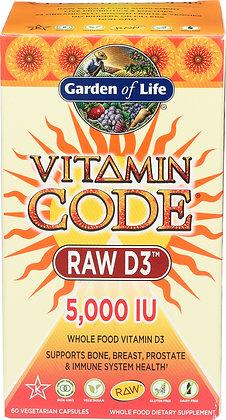 Garden of Life VitaminCode Raw D3 5000 IU 60 Capsules