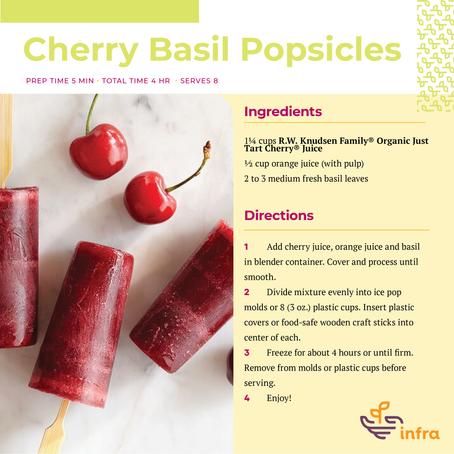 Cherry Basil Popsicles