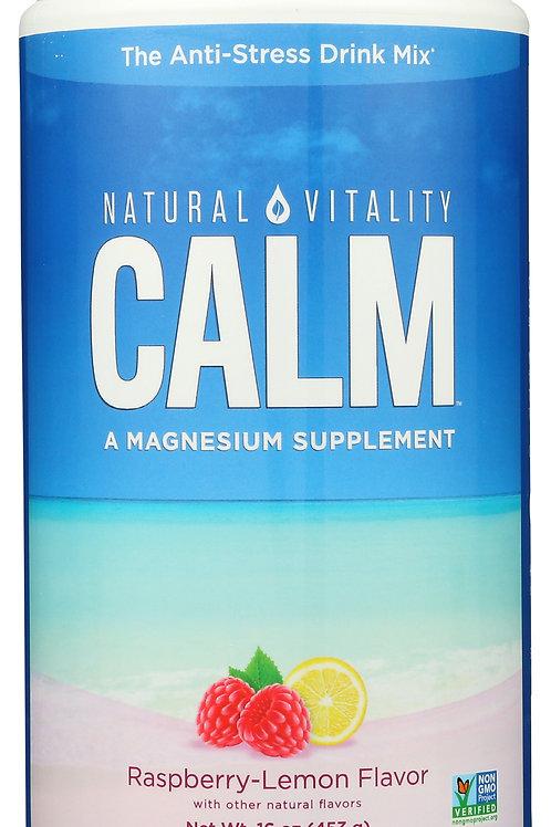 Natural Vitality Calm Raspberry-Lemon 16 oz