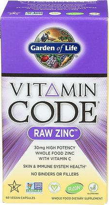 Garden of Life VitaminCode Raw Zinc 60 Capsules