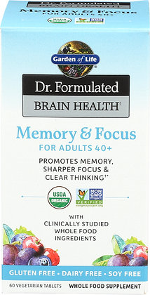 Garden of Life Dr. Formulated Memory and Focus 40+ 60 Tablets