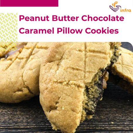 Peanut Butter Chocolate Caramel Pillow Cookies