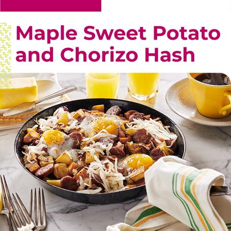 Maple Sweet Potato Chorizo Hash