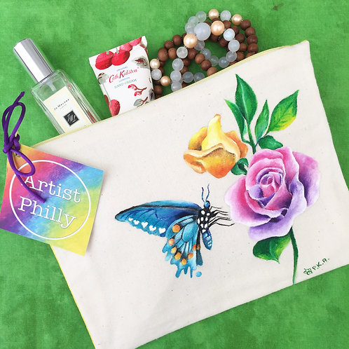 """Butterfly & Rose"" Little Bag"
