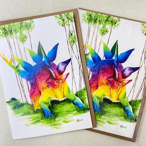 "Stegosaurus card 5""x7"""