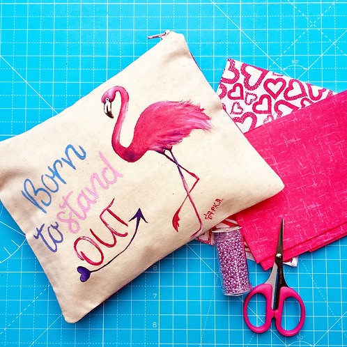 """Flamingo - Born to stand out..."" Little Bag"