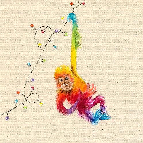 "(C13) Orangutan Swing Card 6""x6"""
