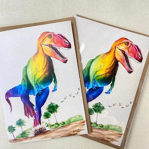 """T.Rex card 5""""x7"""""""
