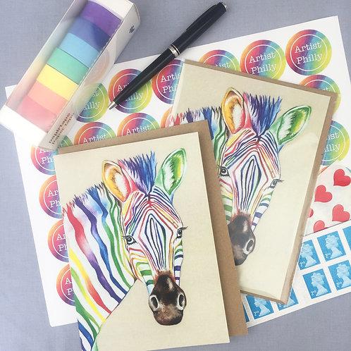 """Zebra card 5""""x7"""""""
