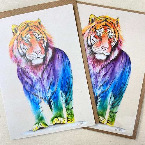"Tiger Card 5""x7"""