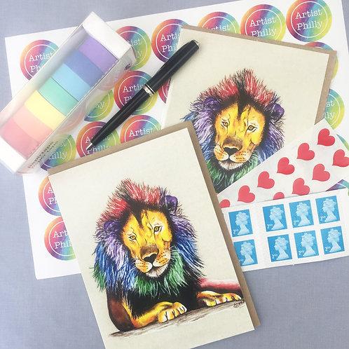 """Lion card 5""""x7"""""""