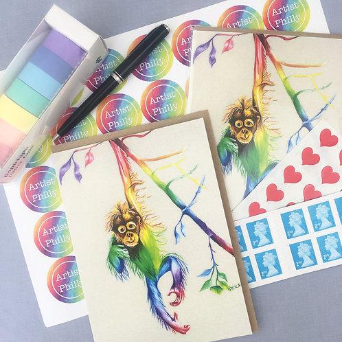 "Orangutan Card 5""x7"""