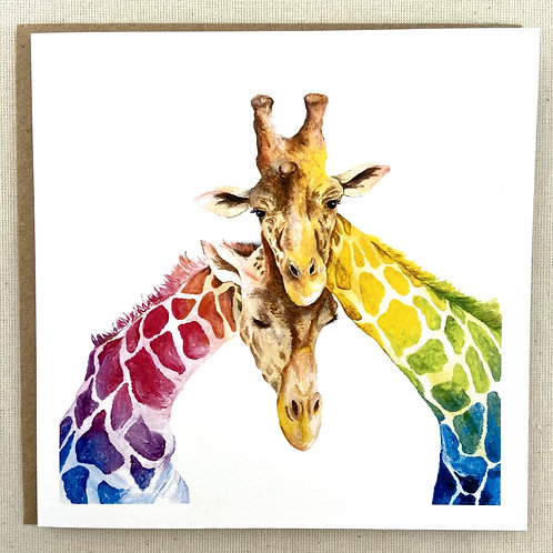 "Giraffe Love Card 6""x6"""