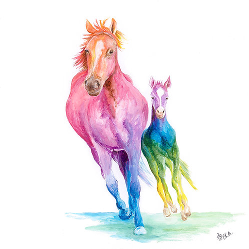 Mare & Foal Prints
