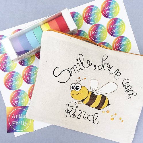 """Smile, Love & Bee Kind"" Little Bag"