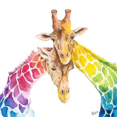 Giraffe Love Prints