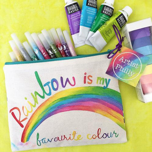 """Rainbow is my favourite Colour"" Little Bag"