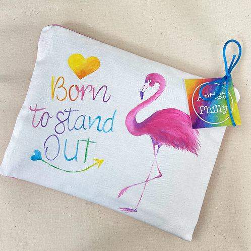 """""""Born to stand out"""" Flamingo Little Bag"""