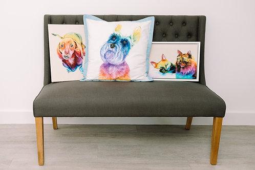 Rainbow Acrylic Pet Portraits