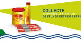 Collecte exceptionnelle gratuite de feux de détresse périmés 2021