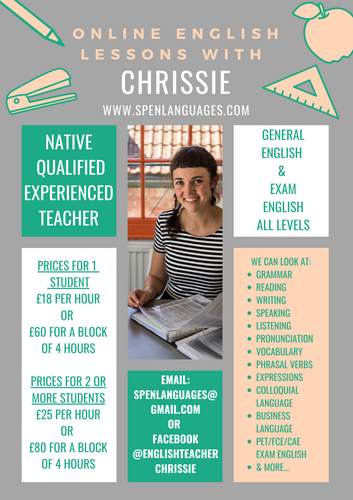 Private English online classes with Chri