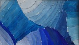 dégradés de bleus (huile)