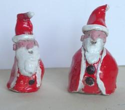 Pères Noël, argile