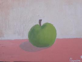 pomme - huile sur toile de Capucine