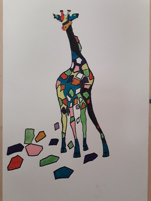 Giraphe Pop Art