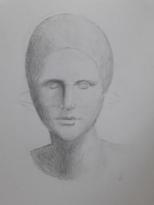 étude du portrait crayon
