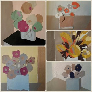 bouquets, collages