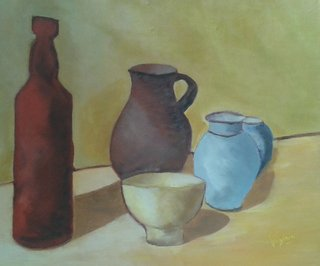 Composition, palette Morandi