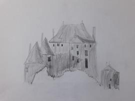 chateau au crayon