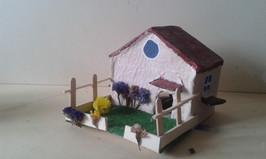 maison Faustine, papier maché