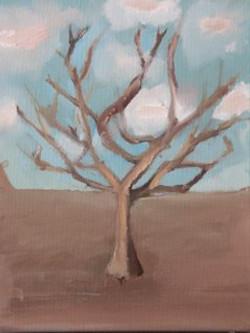 arbre d'hiver à l'huile