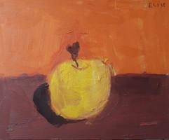 pomme - huile sur toile d'Elise