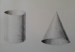 Etude cône et cylindre