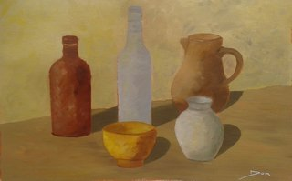 Composition, palette Morandi