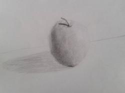 Pomme au crayon de Marthe
