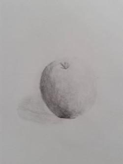 Pomme au crayon de Marie
