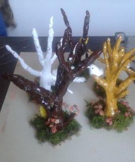 arbres en argile