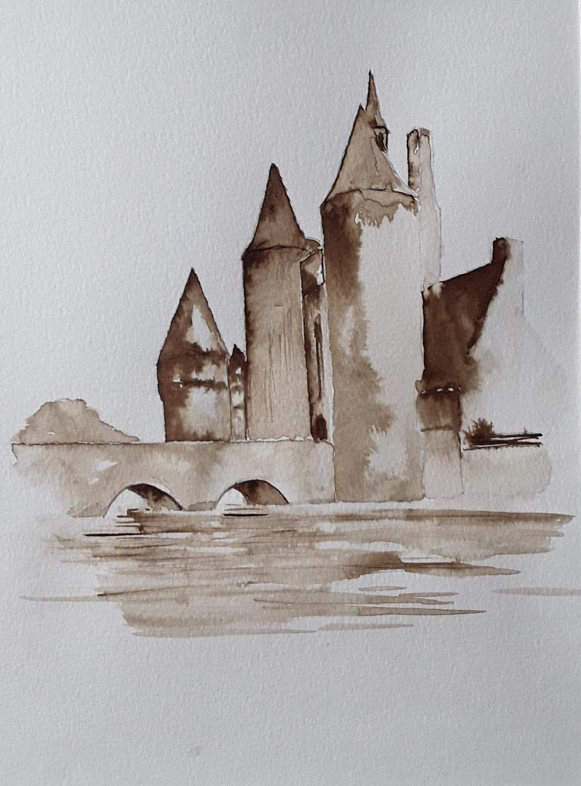 château , encre