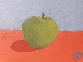 pomme - huile sur toile d'Anne