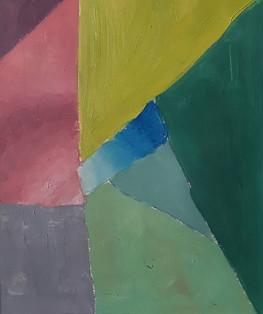 palette colorée à l'huile