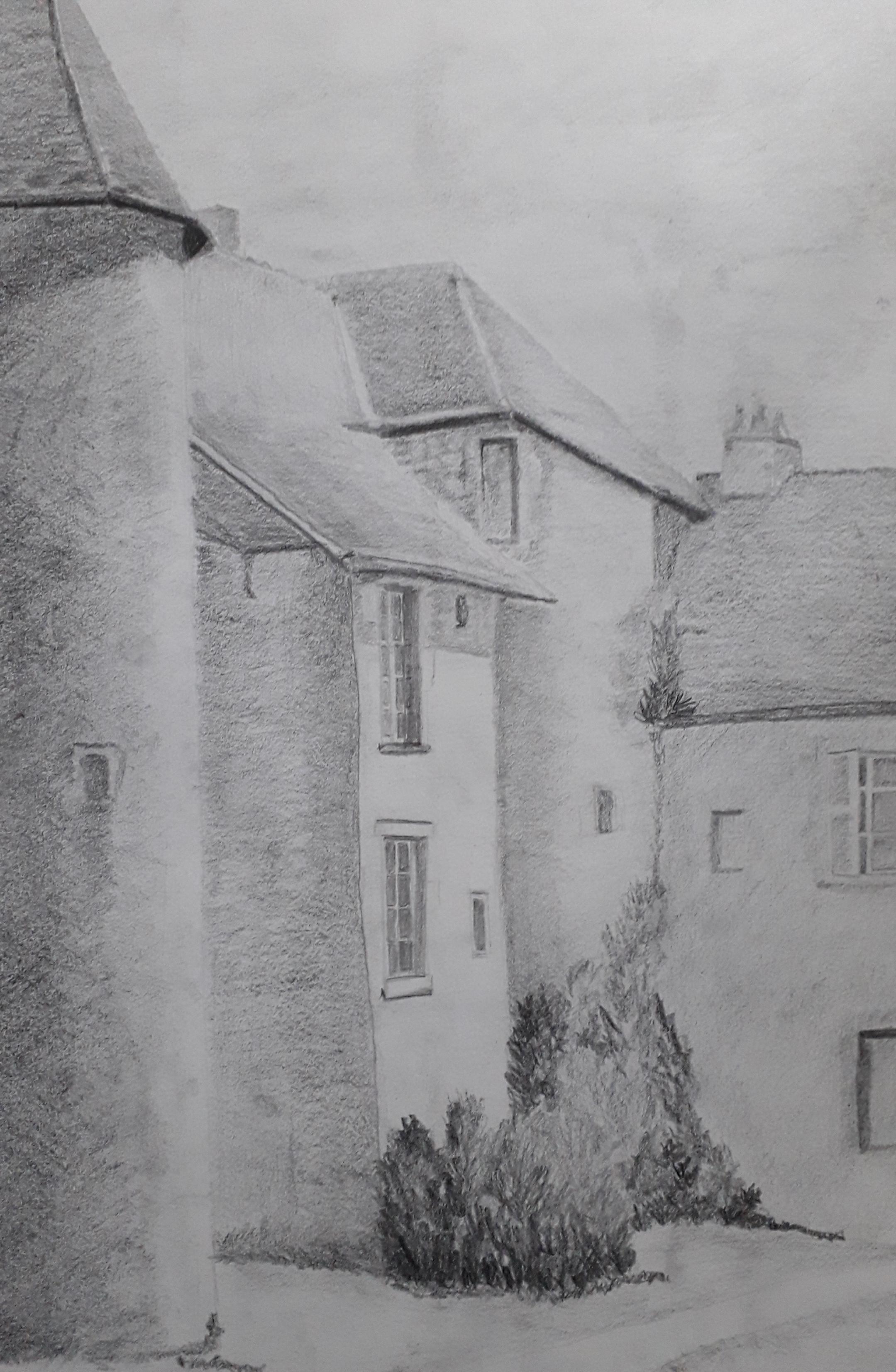 village Christine , crayon