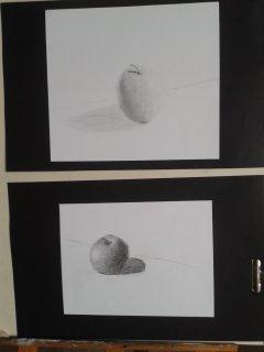 pommes au crayon