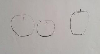 Pomme à la ligne